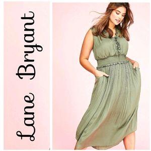 NWOT Lane Bryant Olive Green Sleeveless Mi…